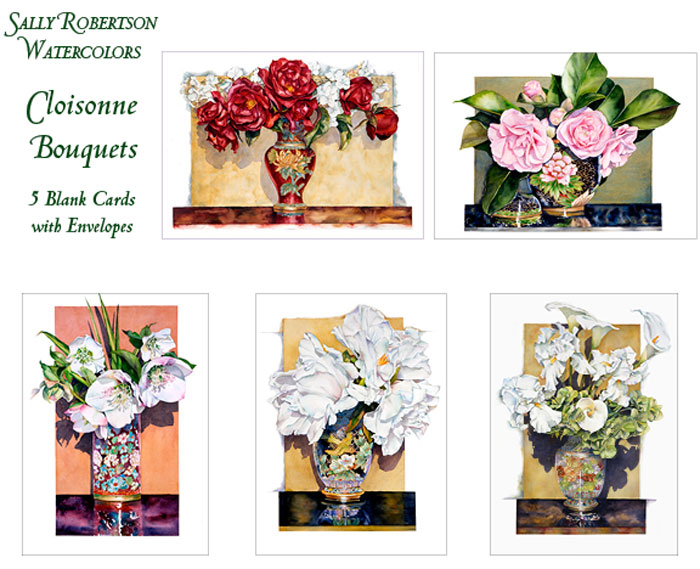 Cloisonne still life note cards