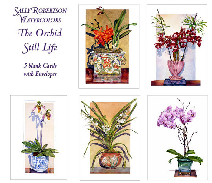 Orchid Floral Note Cards