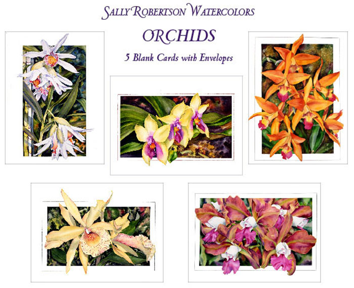 Orchid Botanical Note Cards